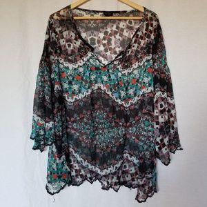 Jessica Simpson plus size chiffon blouse size 2x